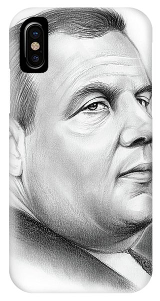 United States Presidents iPhone Case - Chris Christie by Greg Joens