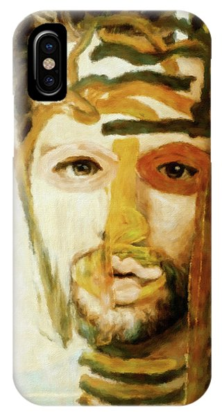 IPhone Case featuring the mixed media Christian by Susan Maxwell Schmidt