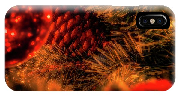 IPhone Case featuring the photograph Christmas Evergreen by Allin Sorenson
