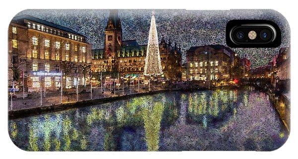 Christmas Hamburg IPhone Case