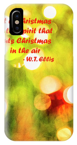 IPhone Case featuring the photograph Christmas In The Spirit by Kay Brewer