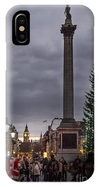 Christmas In Trafalgar Square, London IPhone Case