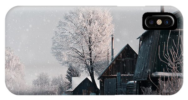 Hotel iPhone Case - Christmas Landscape In Winter Village by Katty1489