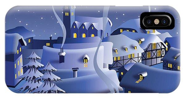 Space iPhone Case - Christmas Night by Nikola Knezevic