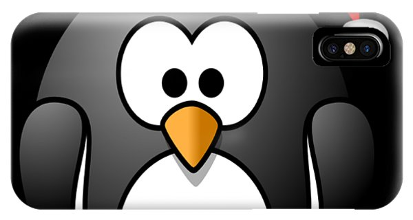 IPhone Case featuring the digital art Christmas Santa Penguin by Flippin Sweet Gear