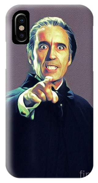 Dracula iPhone Case - Christopher Lee As Dracula by John Springfield