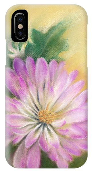 Chrysanthemum Blossom With Bud And Leaf IPhone Case