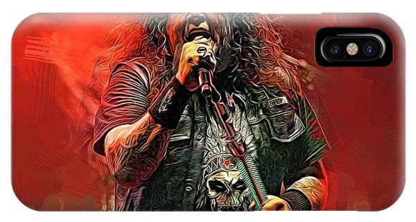 Alice Cooper iPhone Case - Chuck Billy, Testament by Mal Bray