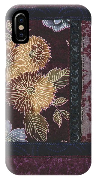 IPhone Case featuring the mixed media Chyrsanthanums by Linda Mae Olszanski