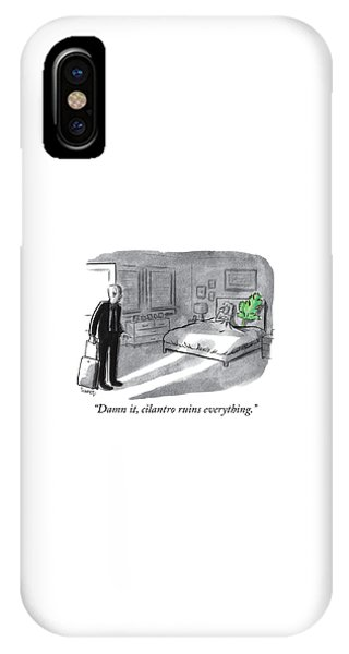 Cilantro Ruins Everything IPhone Case