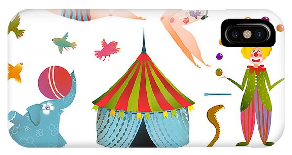 Fair iPhone Case - Circus Carnival Show Clip Art Vintage by Popmarleo