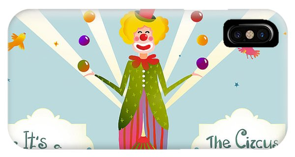 Fair iPhone Case - Circus Juggling Clown Carnival Show by Popmarleo