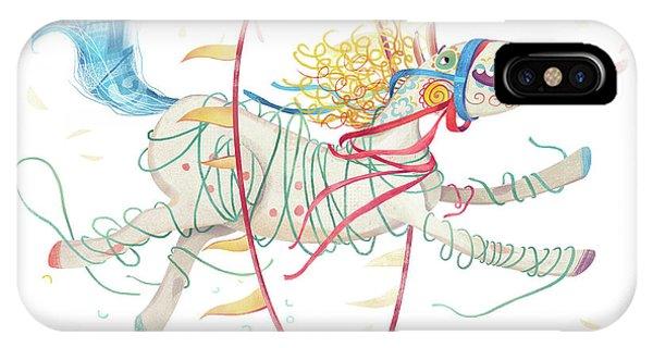 Achievement iPhone Case - Circus Pony by Runa Anastasiya Rudaya