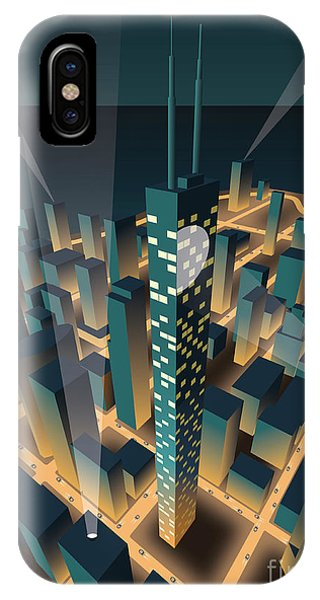 Office Buildings iPhone Case - City At Night by Nikola Knezevic