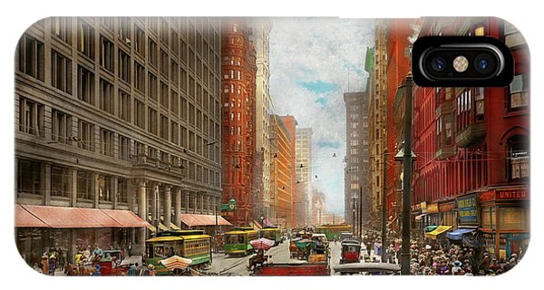IPhone Case featuring the photograph City - Chicago Il - Marshall Fields Company 1911 by Mike Savad