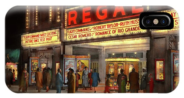 IPhone Case featuring the photograph City - Chicago Il - Nightlife At The Regal Theater 1941 by Mike Savad