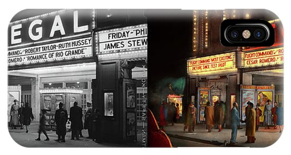 IPhone Case featuring the photograph City - Chicago Il - Nightlife At The Regal Theater 1941 - Side By Side by Mike Savad