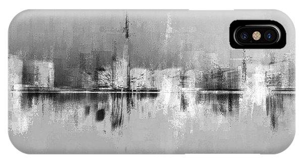 City In Black IPhone Case