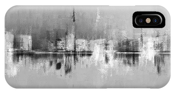 IPhone Case featuring the digital art City In Black by David Manlove