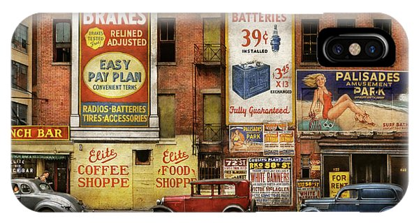 IPhone Case featuring the photograph City - New York Ny - Elite Lunch Bar 1938 by Mike Savad