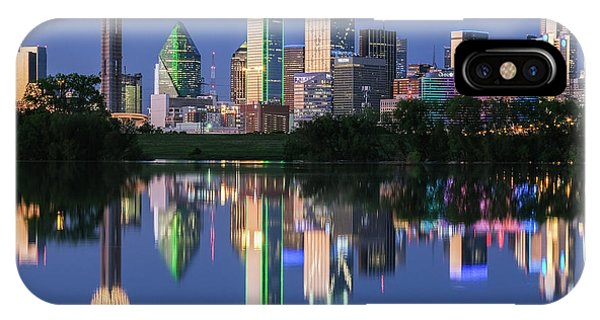 IPhone Case featuring the photograph City Of Dallas, Texas Reflection by Robert Bellomy