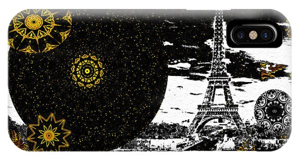 IPhone Case featuring the mixed media City Of Lights - Kaleidoscope Moon For Children Gone Too Soon Number 6  by Aberjhani