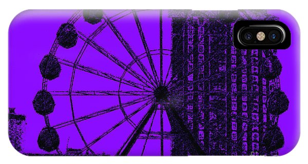 Violet iPhone Case - Cityscape In Blue by Alex Caminker