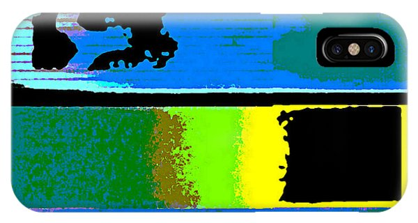 IPhone Case featuring the digital art Cityscaper 4000 Original Fine Art Painting Digital Abstract Triptych by G Linsenmayer
