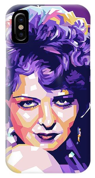 Clara Bow Pop Art IPhone Case