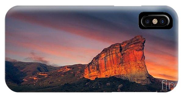 Red Rock iPhone X Case - Clarens Golden Gate National Park by Mitchell Krog