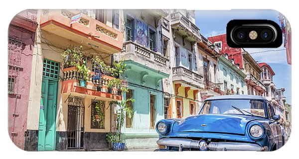 Cuba iPhone Case - Classic Car In Havana, Cuba by Delphimages Photo Creations
