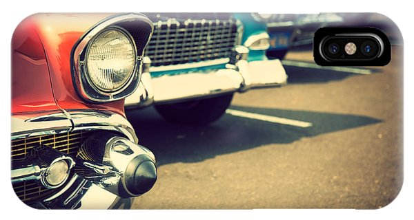 Classic Cars In A Row Phone Case by Topseller