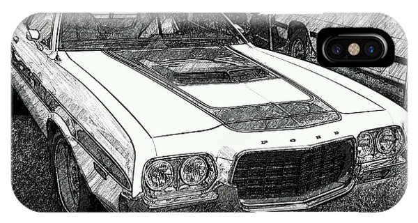 Classic Ford Sketch IPhone Case