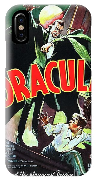 Dracula iPhone Case - Classic Movie Poster - Dracula by Esoterica Art Agency