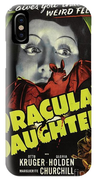 Dracula iPhone Case - Classic Movie Poster - Draculas Daughter by Esoterica Art Agency