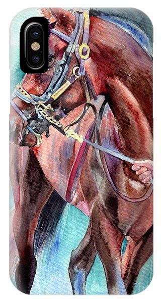 Proud iPhone Case - Classical Horse Portrait by Suzann Sines
