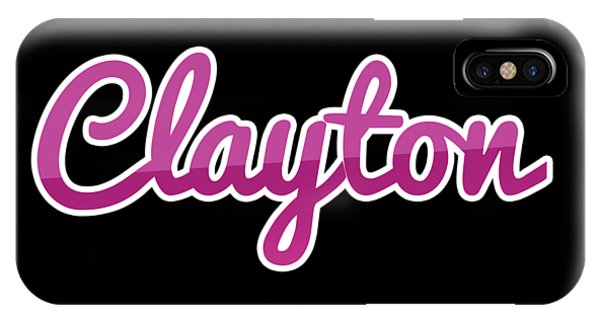 Clayton iPhone Case - Clayton #clayton by TintoDesigns