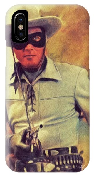 Clayton iPhone Case - Clayton Moore, Vintage Actor by John Springfield