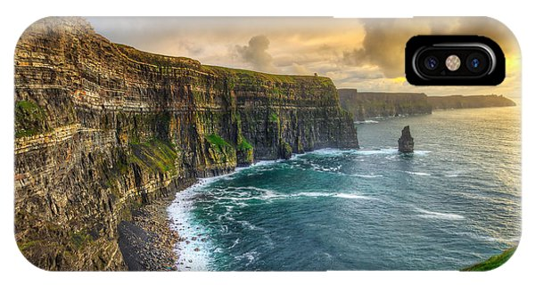 Celtics iPhone Case - Cliffs Of Moher At Sunset, Co. Clare by Patryk Kosmider