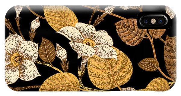 Luxury iPhone Case - Climbing Plant Ivy. Seamless Floral by Mamita