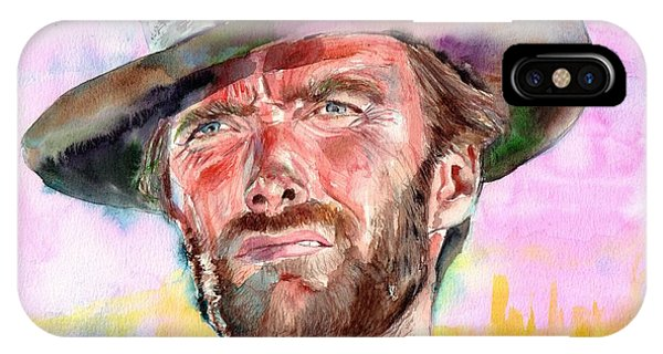 Fort iPhone Case - Clint Eastwood Portrait by Suzann's Art