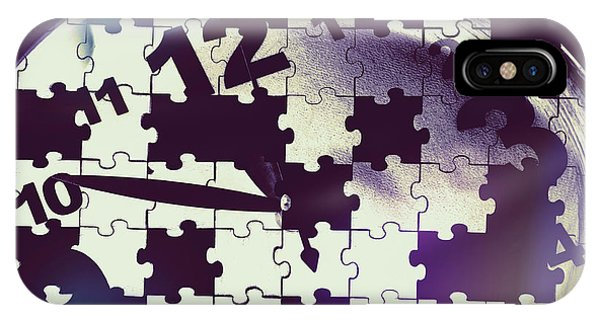 Missing iPhone Case - Clock Holes And Puzzle Pieces by Jorgo Photography - Wall Art Gallery
