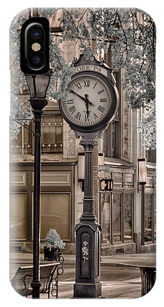 Clock On Street IPhone Case