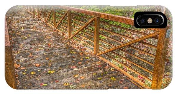 Close Up Of Bridge At Pine Quarry Park IPhone Case