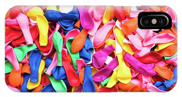 Close-up Of Many Colorful Children's Balloons, Background For Mo IPhone Case