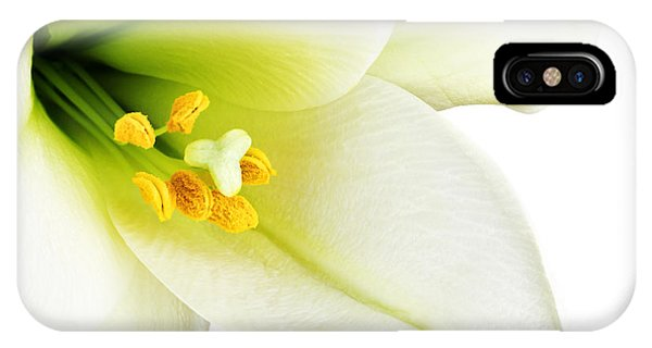 Lilly iPhone Case - Close-up Of The Inside Of A White Lilly by Johan Swanepoel