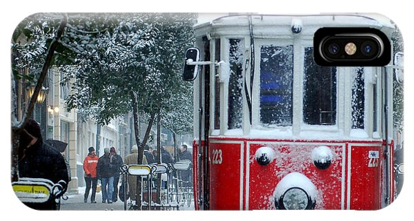 Trolley Car iPhone Case - Close Up Shot Of Tramway Covered With by Jokerpro