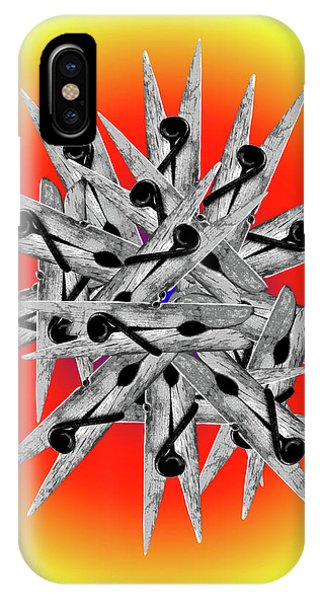 Clothespin Pop Art Warhol Style Print - #1 IPhone Case