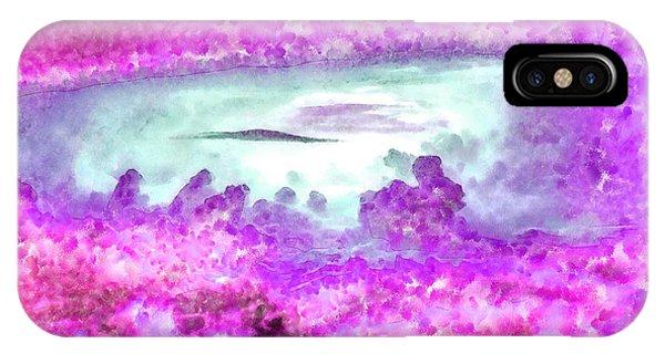 Reef Diving iPhone Case - Cloud Abstractions Purple - Da by Leonardo Digenio
