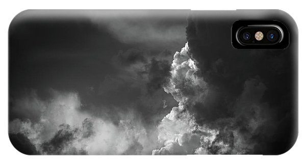 IPhone Case featuring the photograph Clouds 6 In Black And White by Greg Mimbs